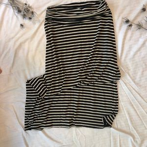 Black and white stripped maxi skirt by JCrew